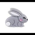 Perle / anneau de dentition lapin en silicone alimentaire sans BPA