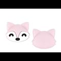 Perle / clip / anneau de dentition renard roux en silicone alimentaire sans BPA