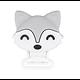 Perle / clip / anneau de dentition renard en silicone alimentaire sans BPA