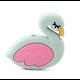 Anneau / perle de dentition flamant rose en silicone alimentaire sans BPA