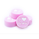 "Perle ronde ""I love Dad"" en silicone alimentaire sans BPA 19x9mm"