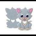 Perle / Anneau de dentition chaton en silicone alimentaire sans BPA