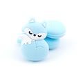 Perle ou anneau de dentition renard tendre en silicone alimentaire sans BPA 31x24mm