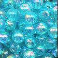 10 perles rondes en acrylique irisé 8mm