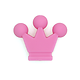 Perle petite couronne en silicone alimentaire sans BPA 32x28mm