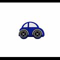 Perle voiture ronde en silicone alimentaire sans BPA 20x30mm