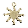 2 breloques soleil scintillant en métal 17mm
