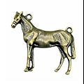 Grand connecteur cheval en métal 41x41mm