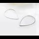 2 anneaux goutte en métal 30x21mm