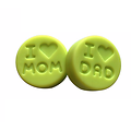 """Perle """"I love Mom / I love Dad"""" en silicone alimentaire sans BPA 18,5mm"""