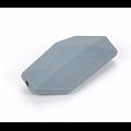 Longue perle à facettes en silicone alimentaire sans BPA 40x18mm
