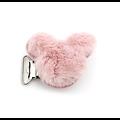 Clip pour attache tétine en fourrure étoile ou mickey