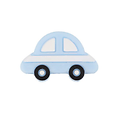 Clip ou perle voiture à bande blanche en silicone alimentaire sans BPA