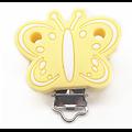 Clip papillon liner blanc en silicone alimentaire sans BPA 45x48mm