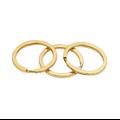 Anneau de porte-clé large en métal couleur bronze  ou doré 30mm