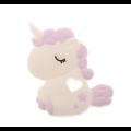 Perle ou Anneau de dentition licorne rêveuse en silicone