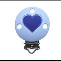 Clip rond et coeur en silicone alimentaire sans BPA 35mm