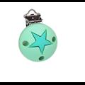 Clip rond et étoile en silicone alimentaire sans BPA 35mm