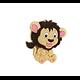 Perle lion en silicone alimentaire sans BPA 18x26mm