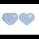 Perle coeur I love Mom / I love Dad en silicone alimentaire sans BPA 25x20x10mm