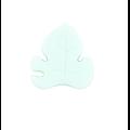 Perle feuille tropicale en silicone alimentaire sans BPA 26x28mm