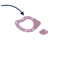 Perle ou anneau de dentition coquillage escargot de mer en silicone alimentaire sans BPA