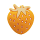 Perle fraise en silicone alimentaire sans BPA 25x28mm