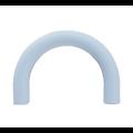 Perle demi-anneau en silicone alimentaire sans PBA 80x55x12mm
