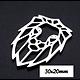 Pendentif / connecteur tête de lion en acier inoxydable 30x20mm