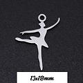 Breloque danseuse en acier inoxydable 13x18mm