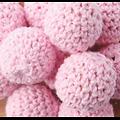 Perle au crochet bois/coton 16mm