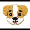 Perle tête de chien en silicone alimentaire sans BPA 22,4x27,4mm