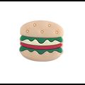 Perle hamburger en silicone alimentaire sans BPA 28x30mm
