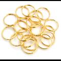2 anneaux de porte-clé en métal bronze, argenté ou doré 20mm