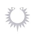 Pendentif soleil ouvert en acier inoxydable 20x19mm