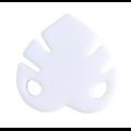 Clip ou perle feuille tropicale / monstera en silicone alimentaire sans BPA 39x57mm