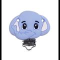 Perle ou clip éléphant en silicone alimentaire sans BPA