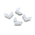 Perle chevron / flèche en silicone alimentaire sans BPA 22x18mm