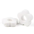 Perle fleur évidée en silicone alimentaire sans BPA 27x27mm