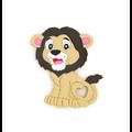 Anneau de dentition lion en silicone alimentaire sans BPA
