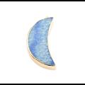 Pendentif lune en pierre et serti doré 45x19mm