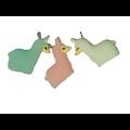 Breloque lama en résine colorée 25x25mm