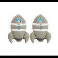 Perle fusée en silicone alimentaire sans BPA 25x37mm