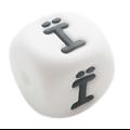 Perle lettre accentuée / alphabet en silicone sans BPA 12mm / 2mm - lettres accentuées