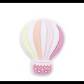 Perle montgolfière arc-en-ciel en silicone alimentaire sans BPA 22x28mm