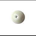 Perle ronde artisanale en céramique vert d'eau 13/14mm
