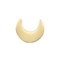 Perle croissant de lune en acier inoxydable 7x8mm
