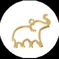 Support de pendentif z'animos pour résine UV époxy en métal doré