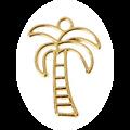 Support de pendentif végétaux pour résine UV époxy en métal doré