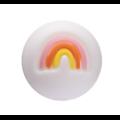 Perle ronde et arc-en-ciel en silicone alimentaire sans BPA 15mm